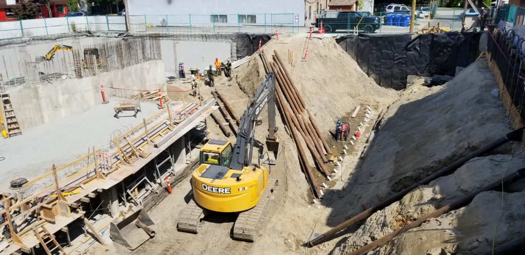 Main and Twentieth – Excavation and Shoring