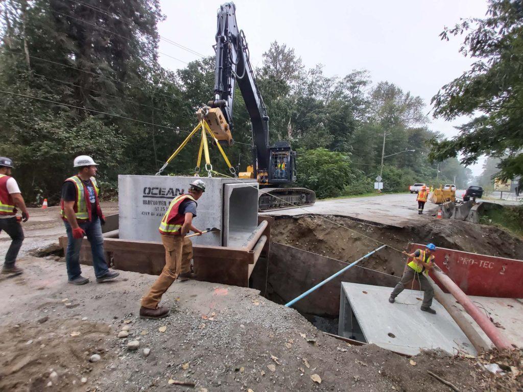 Maple Ridge Culvert Replacement on 132 Ave